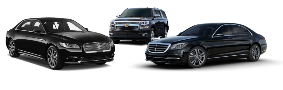 three luxurious cars